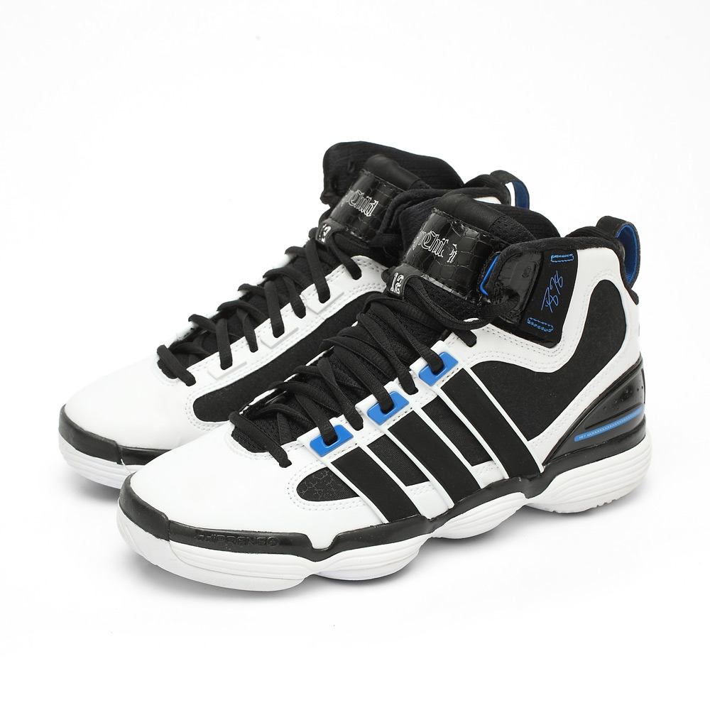 ADIDAS 阿迪达斯冬季男童白色篮球鞋G22996 高清实拍大图页