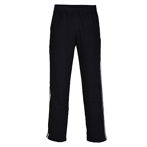 adidas阿迪达斯2014新款男子 纯色三条纹运动全能薄针织长裤X21059