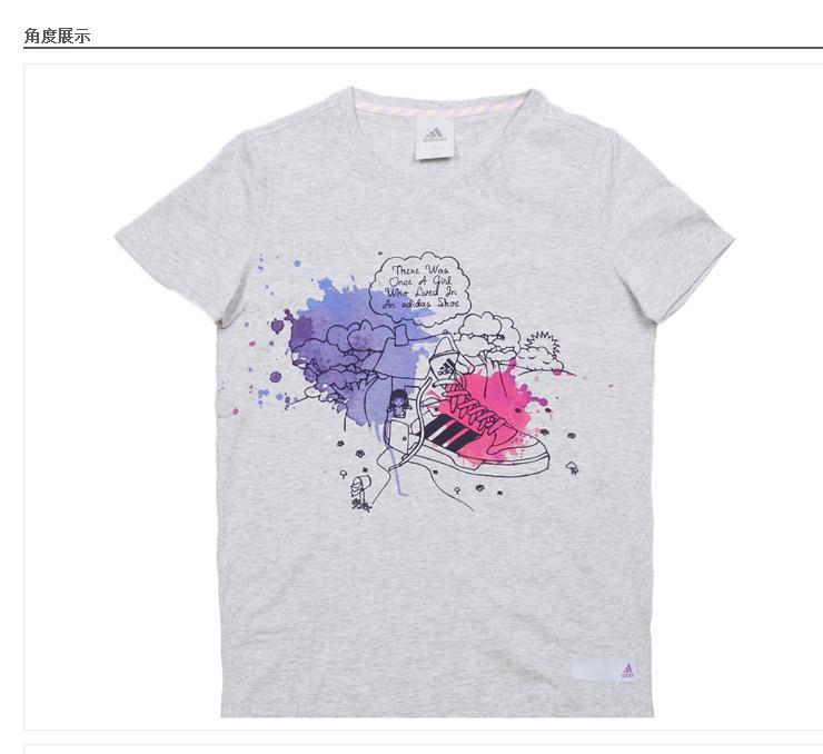 创意图案运动休闲短袖t恤w44855