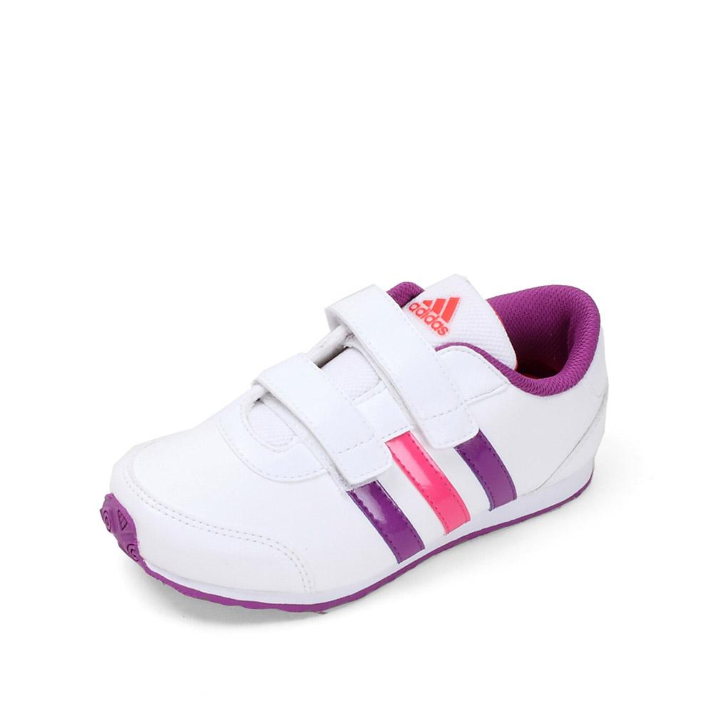 adidas/阿迪达斯童鞋 20 白色女童合成革舒适训练鞋 g