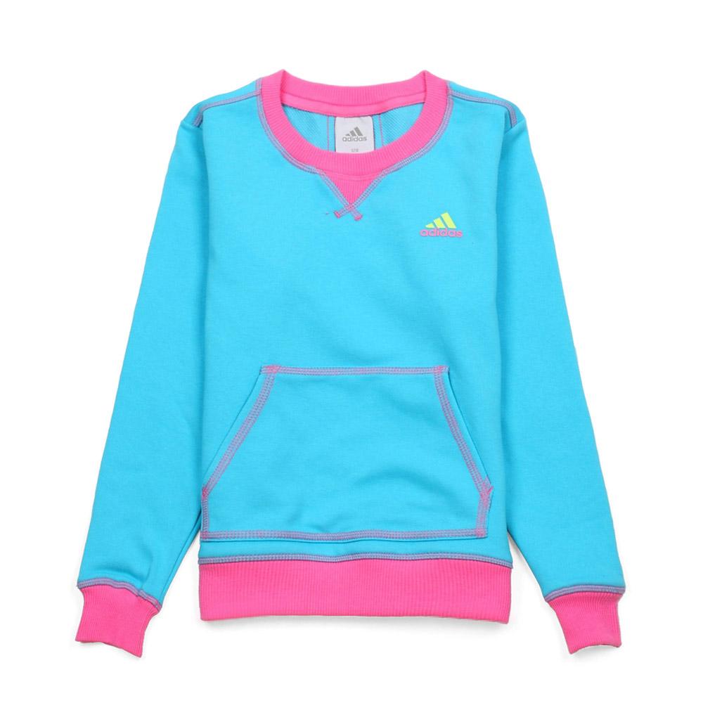 蓝色混搭女童套头衫 x34641; 网购adidas/阿迪达斯童装年春秋混搭女童