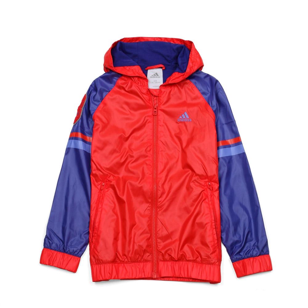 adidas/阿迪达斯童装 20 红色涤纶男童梭织茄克 x34912