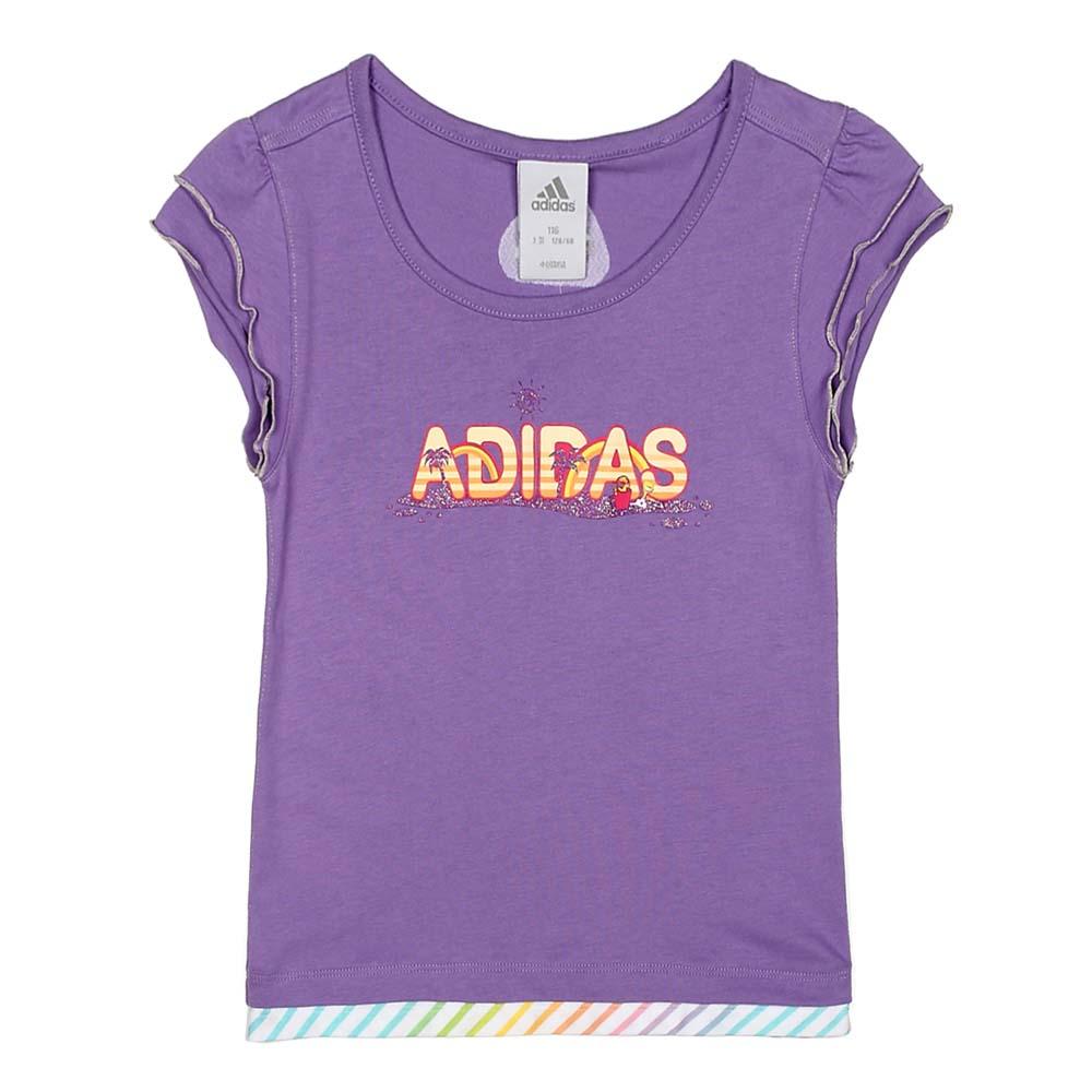Adidas 阿迪达斯童装夏季女童短袖T恤 W45533 高清实拍大图页