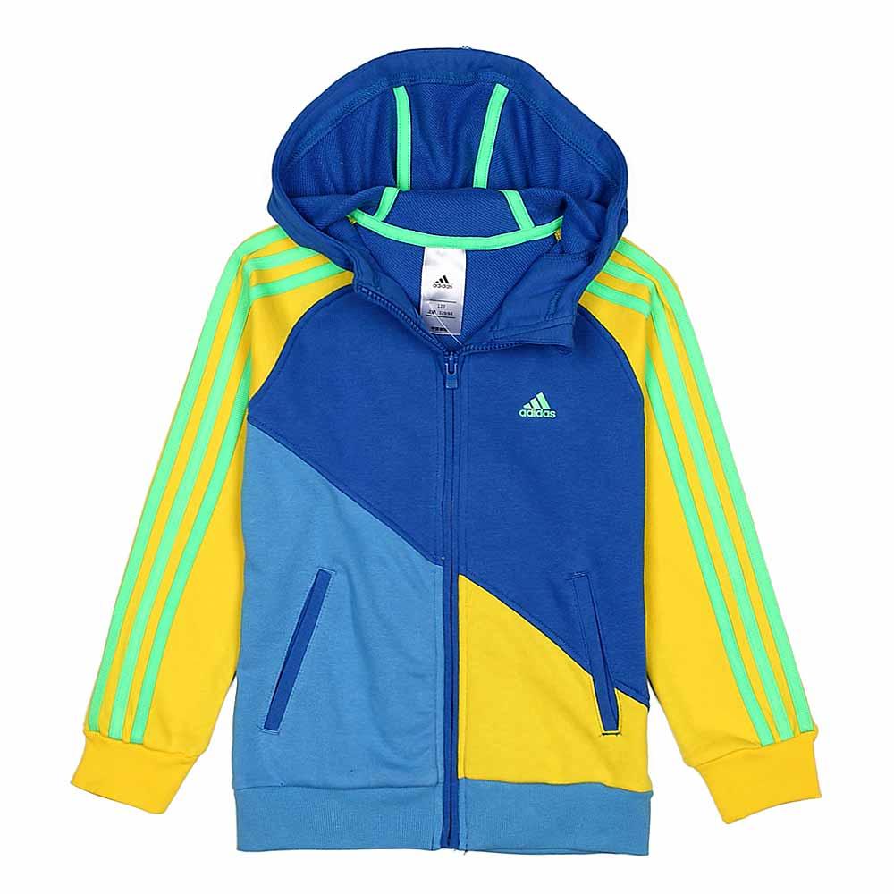 adidas/阿迪达斯童装蓝色男童针织茄克z32326