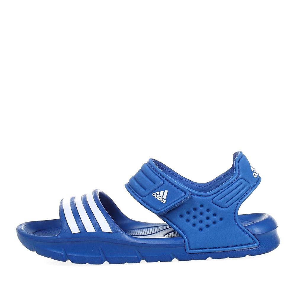 adidas/阿迪达斯童鞋蓝色男小中童沙滩凉鞋q22613