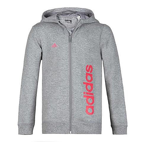 Adidas/阿迪达斯童装春季专柜同款新品少女针织连帽茄克S88037