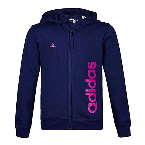 Adidas/阿迪达斯童装春季专柜同款新品少女针织连帽茄克S21150