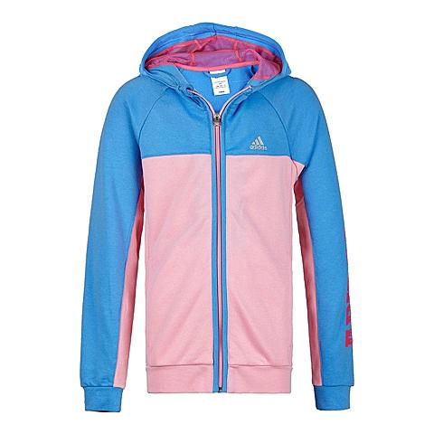 Adidas/阿迪达斯童装春季专柜同款新品少女针织连帽茄克S02794