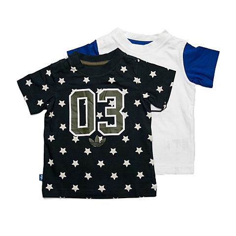 adidas阿迪三叶草新款专柜同款男婴童2件短袖T恤S14350