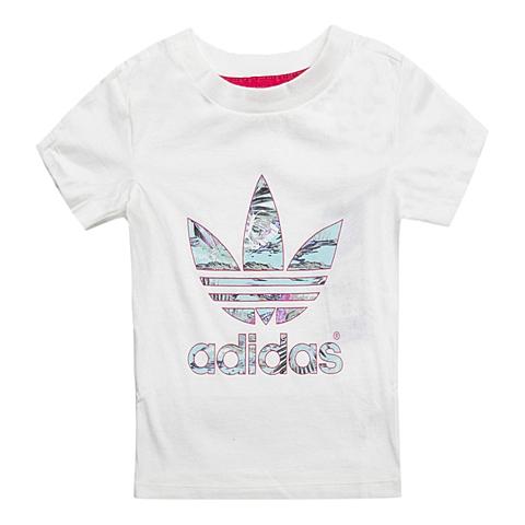 adidas阿迪三叶草新款专柜同款女婴童短袖T恤S14399