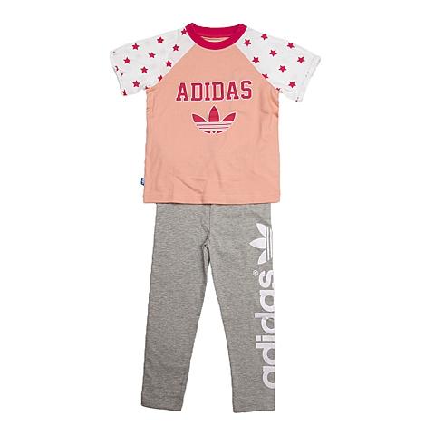 adidas阿迪三叶草新款专柜同款女婴童套服S14374