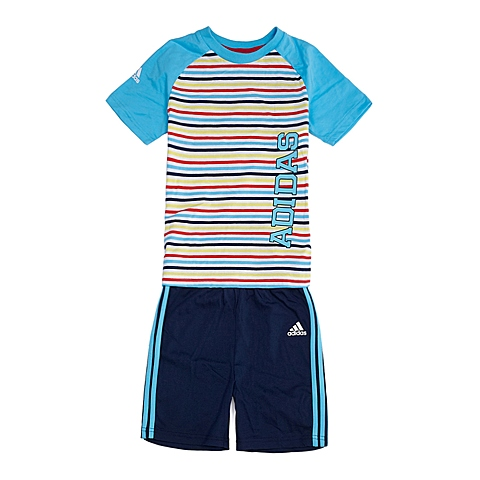 adidas阿迪达斯新款专柜同款男婴童基础套装系列套服S17158