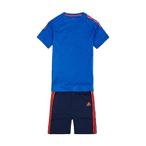 adidas阿迪达斯新款专柜同款男婴童套服S21456