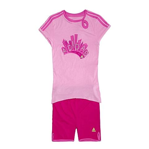 adidas阿迪达斯新款专柜同款女婴童套服S21458
