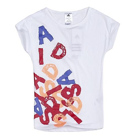 adidas阿迪达斯新款专柜同款女童ROCK IT系列短袖T恤S21668