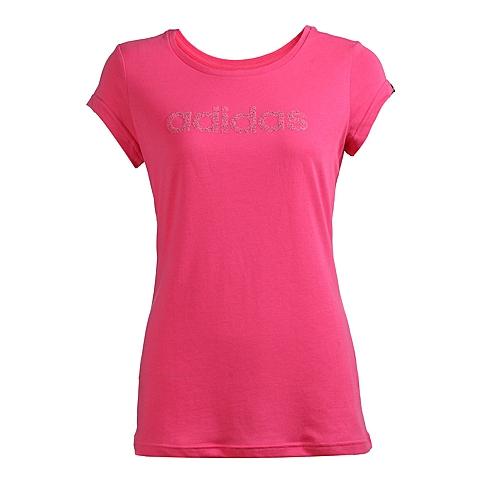 adidas阿迪达斯新款女子图案系列圆领短袖T恤S17245