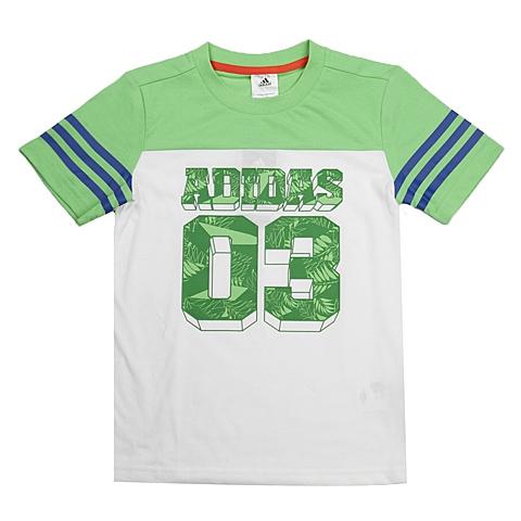 adidas阿迪达斯新款专柜同款男童酷玩一族系列T恤892458