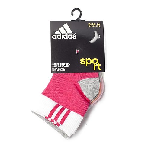 adidas阿迪达斯新款专柜同款女童袜子(3双)S15662