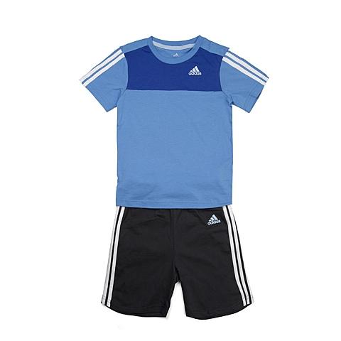 adidas阿迪达斯新款专柜同款男婴童基础套装系列套服S21391