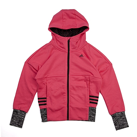 adidas阿迪达斯新款专柜同款大童女针织茄克AB4468