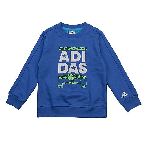 adidas阿迪达斯新款专柜同款小童男套头衫AH9655
