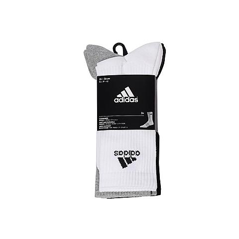 adidas阿迪达斯2017年新款中性训练系列袜子(3双)AA2299