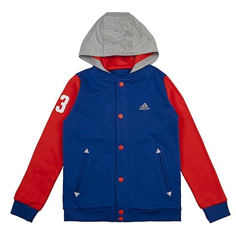 adidas阿迪达斯新款专柜同款大童男针织茄克AJ3975