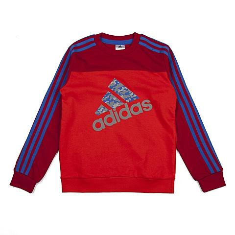 adidas阿迪达斯新款专柜同款大童男套头衫AJ3964