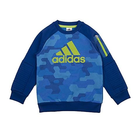 adidas阿迪达斯新款专柜同款小童男套头衫AJ4019