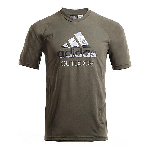 adidas阿迪达斯新款男子多功能越野系列短袖T恤AI2257