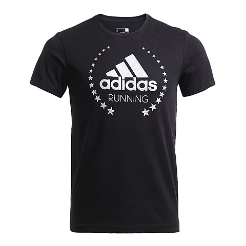 adidas阿迪达斯新款男子跑步图案系列短袖T恤AI5966