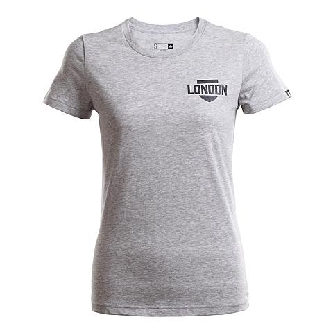adidas阿迪达斯新款女子跑步图案系列短袖T恤AI5975