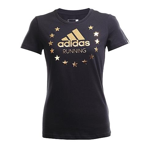 adidas阿迪达斯新款女子跑步图案系列短袖T恤AI5990
