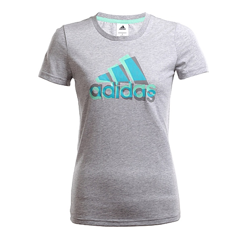 adidas阿迪达斯新款女子训练系列短袖T恤AJ1487
