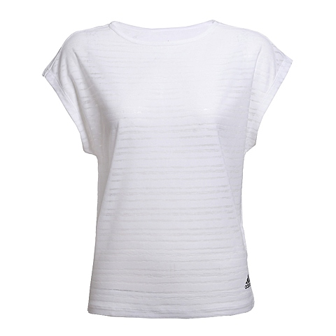adidas阿迪达斯新款女子训练系列短袖T恤AJ5059