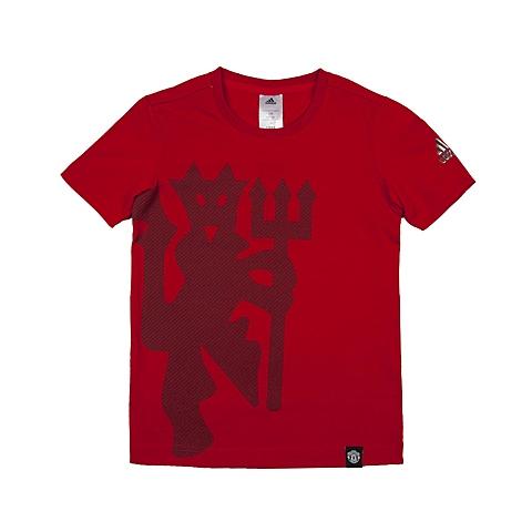 adidas阿迪达斯新款专柜同款男大童足球俱乐部系列短袖T恤AK1905