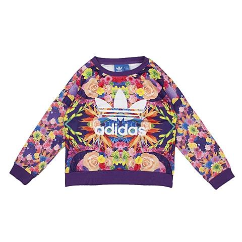 adidas阿迪三叶草新款专柜同款女大童套头衫AJ0925