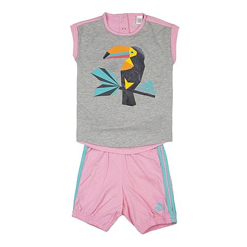 adidas阿迪达斯新款专柜同款女婴童短袖套服AK2623
