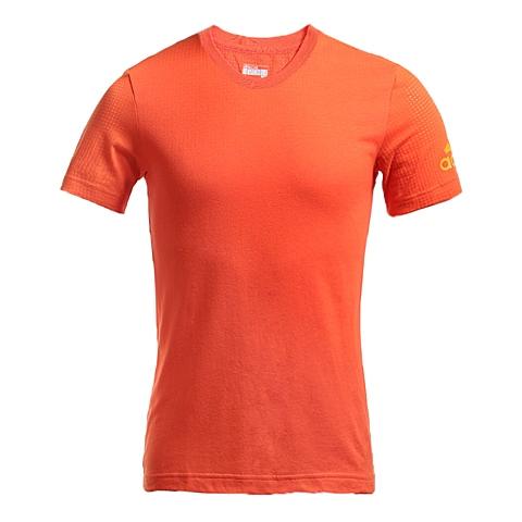 adidas阿迪达斯新款男子科技三条纹系列T恤AI4465