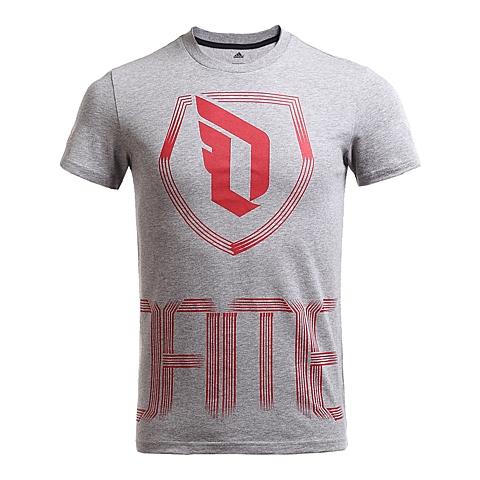adidas阿迪达斯新款男子签约球员系列短袖T恤AJ1763