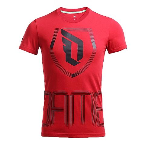 adidas阿迪达斯新款男子签约球员系列短袖T恤AJ4208