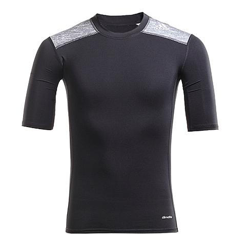 adidas阿迪达斯新款男子TECH FIT系列短袖T恤AJ4973