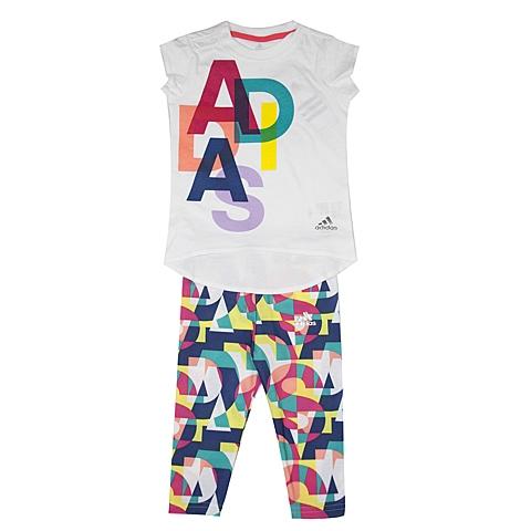 adidas阿迪达斯新款专柜同款女婴童短袖套服AJ7350