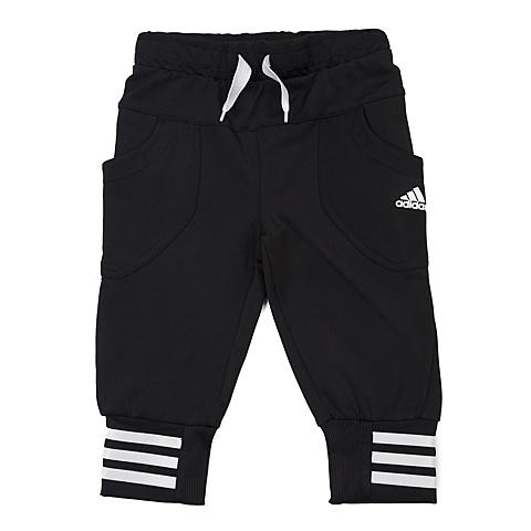 adidas阿迪达斯新款专柜同款女小童针织七分裤AO4557
