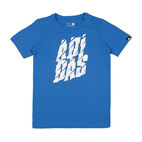 adidas阿迪达斯新款专柜同款男大童针织T恤AI5886