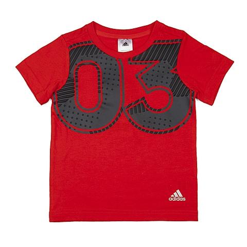 adidas阿迪达斯2016新款专柜同款男小童针织T恤AK1923
