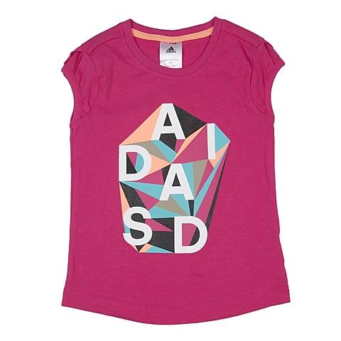 adidas阿迪达斯2016新款专柜同款女小童针织T恤AK1959