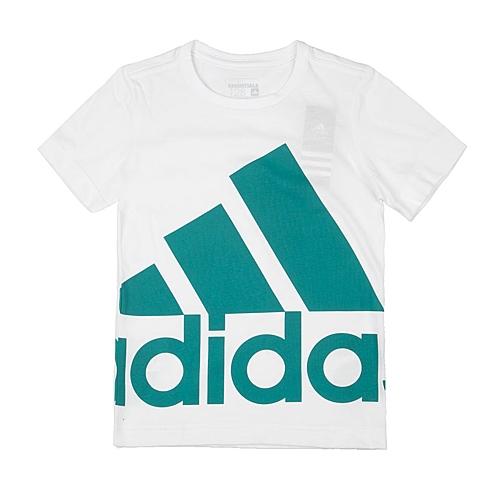 adidas阿迪达斯新款专柜同款男大童针织T恤AK2008