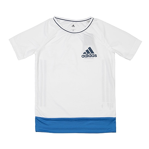 adidas阿迪达斯新款专柜同款男大童针织T恤AK2757