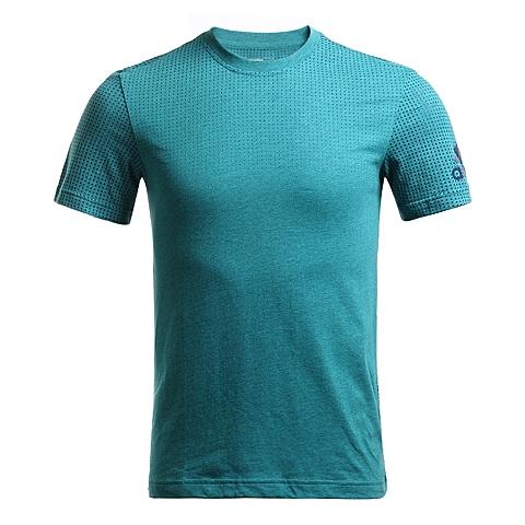 adidas阿迪达斯新款男子科技三条纹系列短袖T恤AI4463